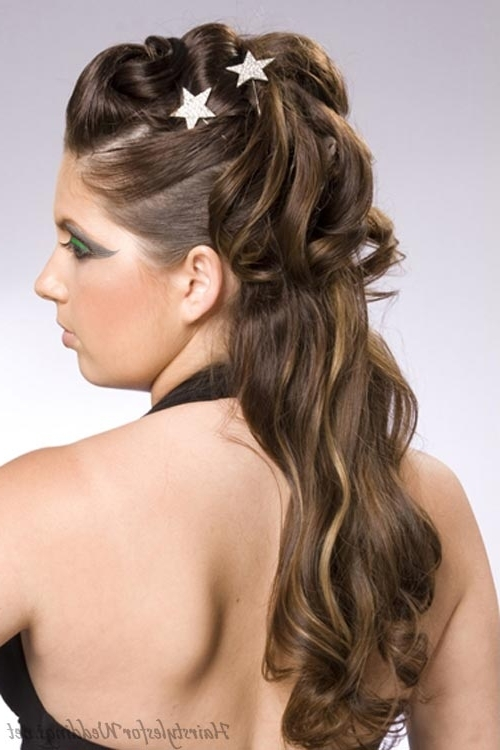 Up Hairstyles For Black Hair Wedding Hairstyles Half Up Half Down Intended For Wedding Hairstyles For Medium Length With Black Hair (View 13 of 15)