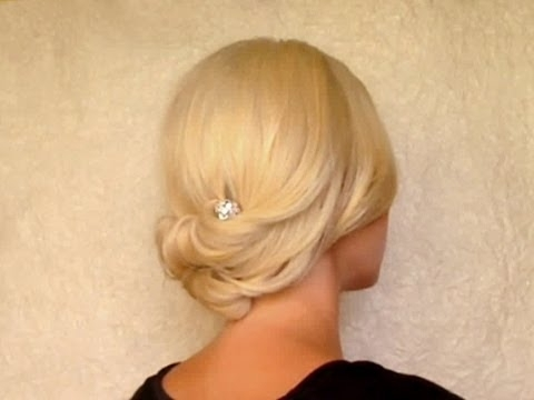 Updo Hairstyle For Medium Short Shoulder Length Hair Rolled Hair Intended For Wedding Hairstyles For Short To Medium Length Hair (View 14 of 15)