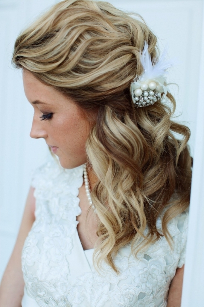 Updo Wedding Hairstyles For Medium Length Hair Medium Length Curly Intended For Wedding Hairstyles For Medium Length Curly Hair (View 6 of 15)