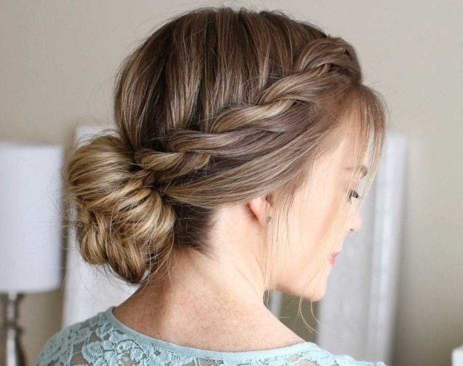 Updos For Long Hair :17 Pretty Hair Updos For Long Hair You Have To See! For Wedding Hairstyles For Long Low Bun Hair (View 14 of 15)