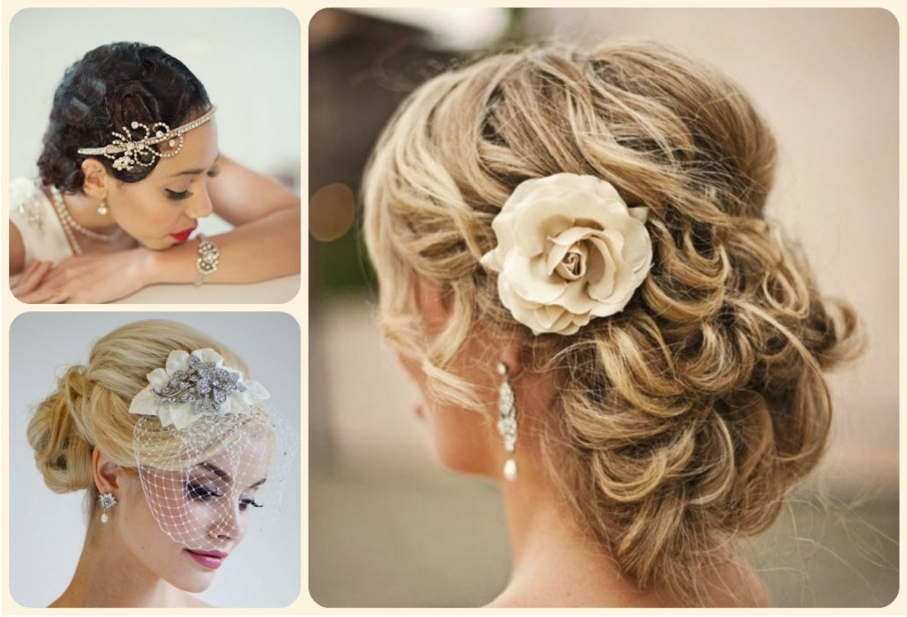 Updos For Short Hair With Fascinators Pertaining To Updos Wedding Hairstyles With Fascinators (View 12 of 15)
