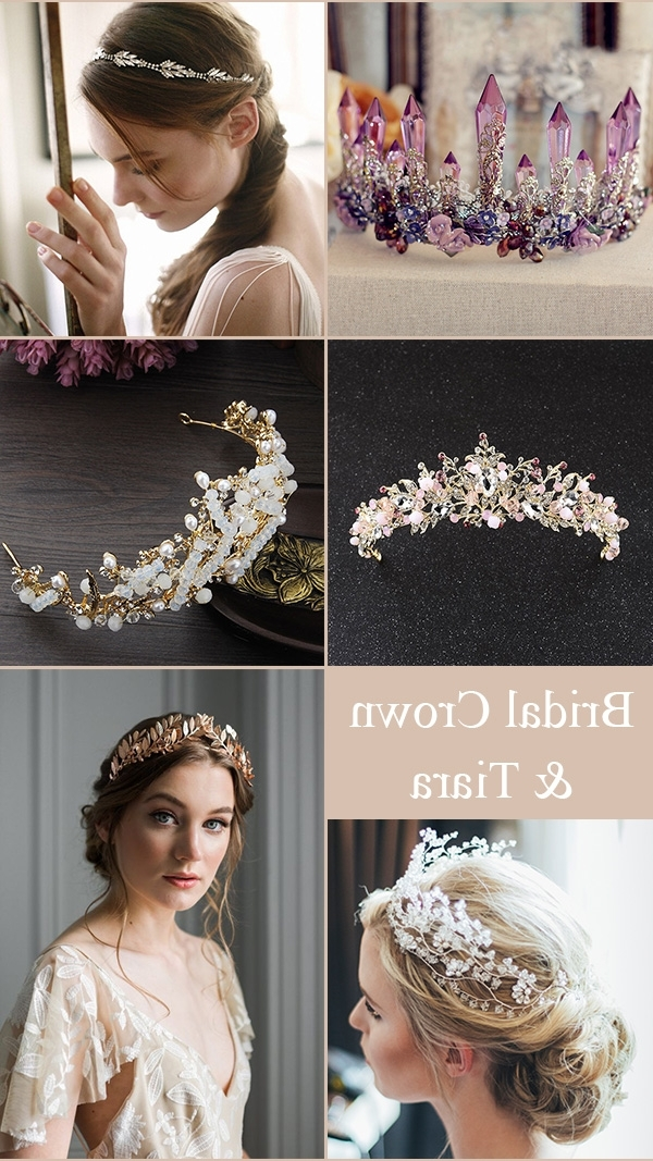 Useful Tips For Choosing Bridal Hair Accessories For A Perfect For Wedding Hairstyles With Crown (View 14 of 15)