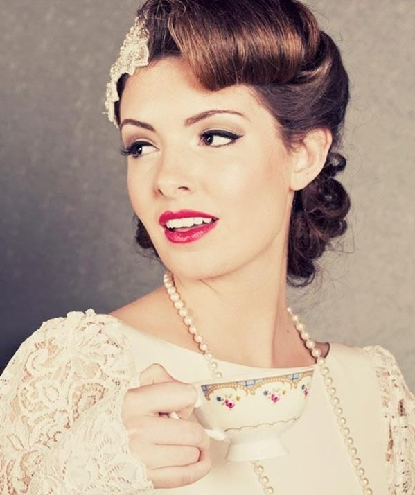 Very Very Cute Pin Up Wedding Hairstyle | To Do | Pinterest Throughout Pin Up Wedding Hairstyles (View 10 of 15)