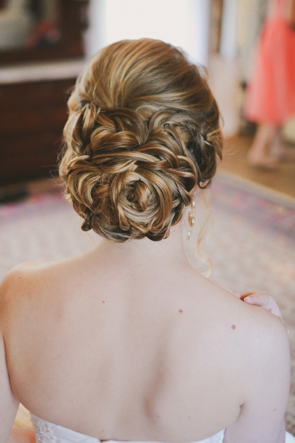 Vintage Braid Wedding Updo Hairstyle For Long Hair | Deer Pearl Flowers Intended For Wedding Updos For Long Hair With Braids (View 13 of 15)