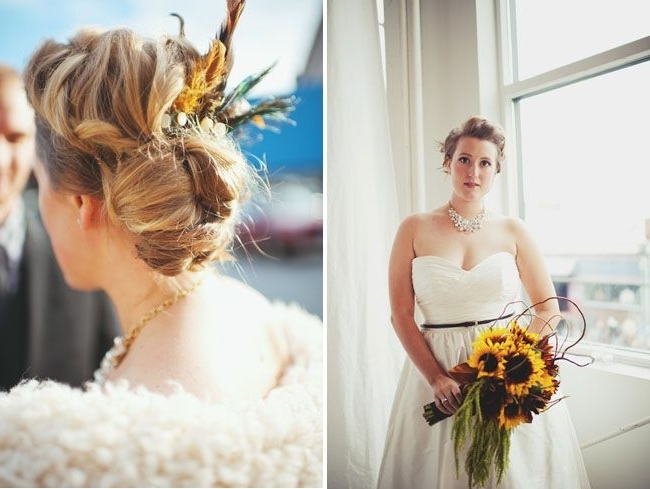 Vintage Circus Wedding In An Urban Loft: Rebekah + Matt | Circus With Wedding Hairstyles With Sunflowers (View 11 of 15)