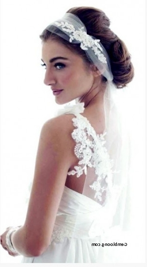 Vintage Updo Wedding Hairstyles With Veil Unique 4 Romantic Wedding Throughout Romantic Vintage Wedding Hairstyles (View 9 of 15)
