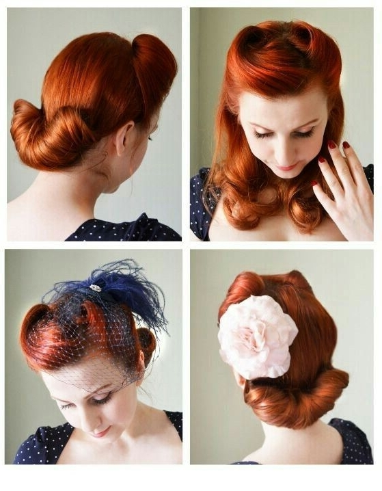 Vintage Victory Roll Pinup Hair Style | Vintage Hair & Wig History With Pin Up Wedding Hairstyles (View 11 of 15)