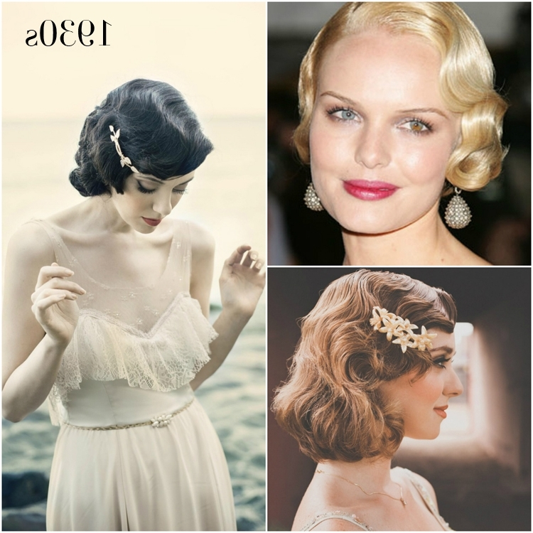 Vintage Wedding Hairstyles – A Brief History | Percy Handmade In 1920S Era Wedding Hairstyles (View 6 of 15)