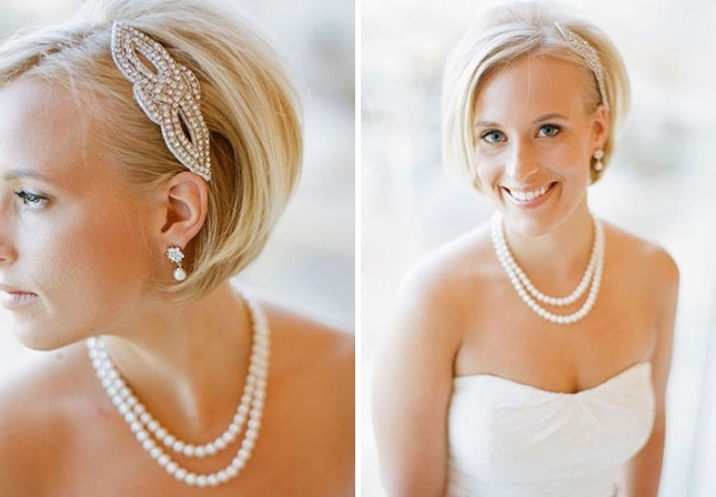 Vintage Wedding Hairstyles For Short Hair – Hairstyle For Women & Man Pertaining To Wedding Hairstyles For Chin Length Hair (View 13 of 15)