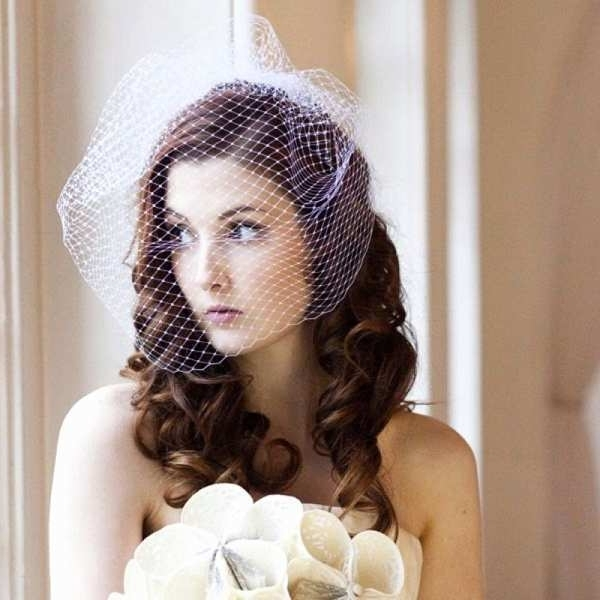 Vintage Wedding Hairstyles With Birdcage Veil Fresh Beautiful Regarding Wedding Hairstyles For Long Hair With Birdcage Veil (View 5 of 15)