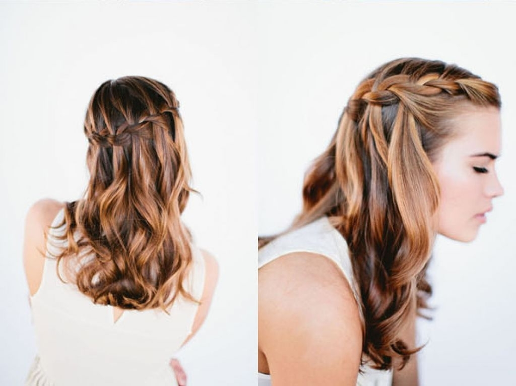 Waterfall Braid Wedding Hairstyles For Long Hair Pertaining To Wedding Hairstyles For Long Hair With Braids (View 14 of 15)