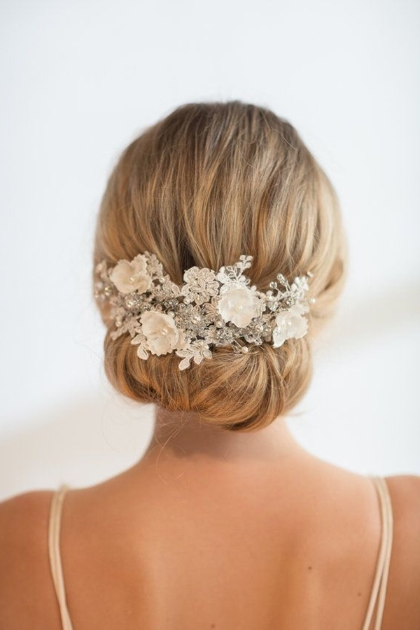 Wedding Accessories 20 Charming Bridal Headpieces To Match With Your With Regard To Elegant Wedding Hairstyles (View 15 of 15)