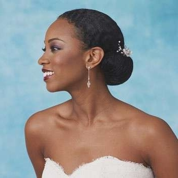 Wedding Bun Hairstyles For Black Hair Lovely 2014 Black African For Updos African American Wedding Hairstyles (View 13 of 15)