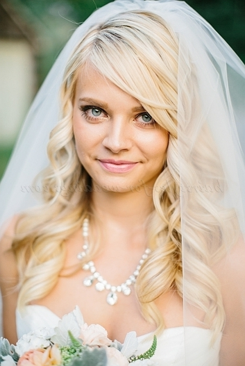 Wedding Caps And Veils – Hair Down Wedding Hairstyle With Veil Throughout Wedding Hairstyles For Long Hair Down With Veil (View 11 of 15)