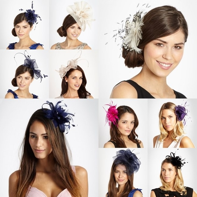 Wedding Guest Hairstyles With Fascinator | Midway Media For Wedding Guest Hairstyles For Medium Length Hair With Fascinator (View 9 of 15)