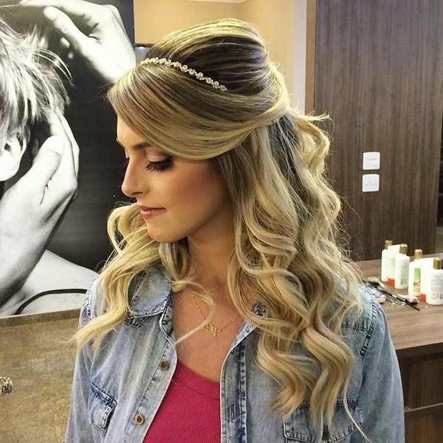 Wedding Hair Half Up Half Down With Bangs | Korhek | The Best With Regard To Half Up Half Down With Fringe Wedding Hairstyles (View 10 of 15)