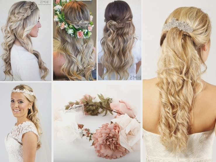 Wedding Hair Ideas For Long Hair – Richard Designs | Wedding Within Half Up With Veil Wedding Hairstyles (View 12 of 15)