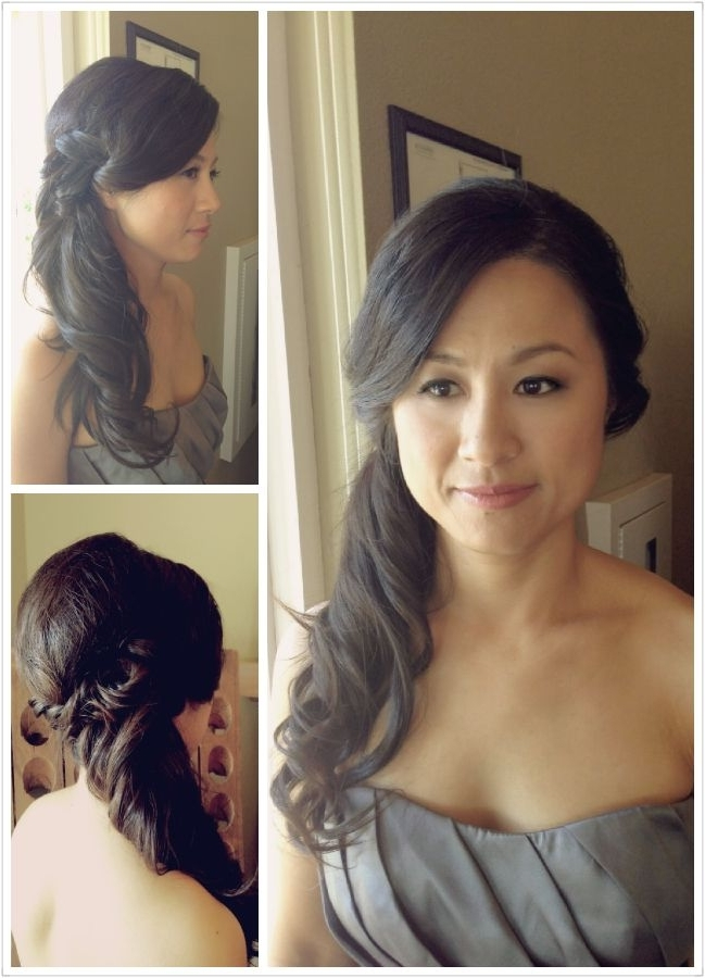 Wedding Hair – Side Pony Tail – Bridesmaids Hairstyle – Asian Hair In Asian Wedding Hairstyles For Long Hair (View 13 of 15)