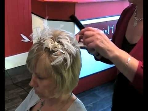 Wedding Hair Style – How To Add Volume To Short Hair And Fix A In Wedding Guest Hairstyles For Medium Length Hair With Fascinator (View 10 of 15)
