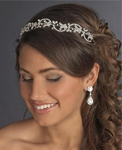 Wedding Hair Styles For Rustic Wedding Older Bride Medium Length Pertaining To Wedding Hairstyles For Shoulder Length Hair With Tiara (View 12 of 15)