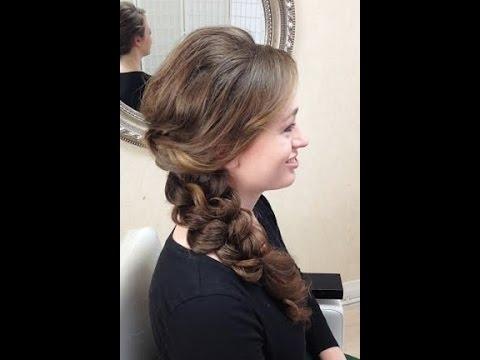 Wedding Hair Trial Run – Side Braid – Youtube Intended For Side Braid Wedding Hairstyles (View 4 of 15)
