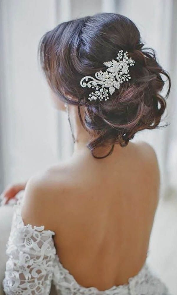 Wedding Hair With Flowers & Jewels : 30 Wedding Hairstyles With Regard To Wedding Hairstyles With Jewels (View 11 of 15)