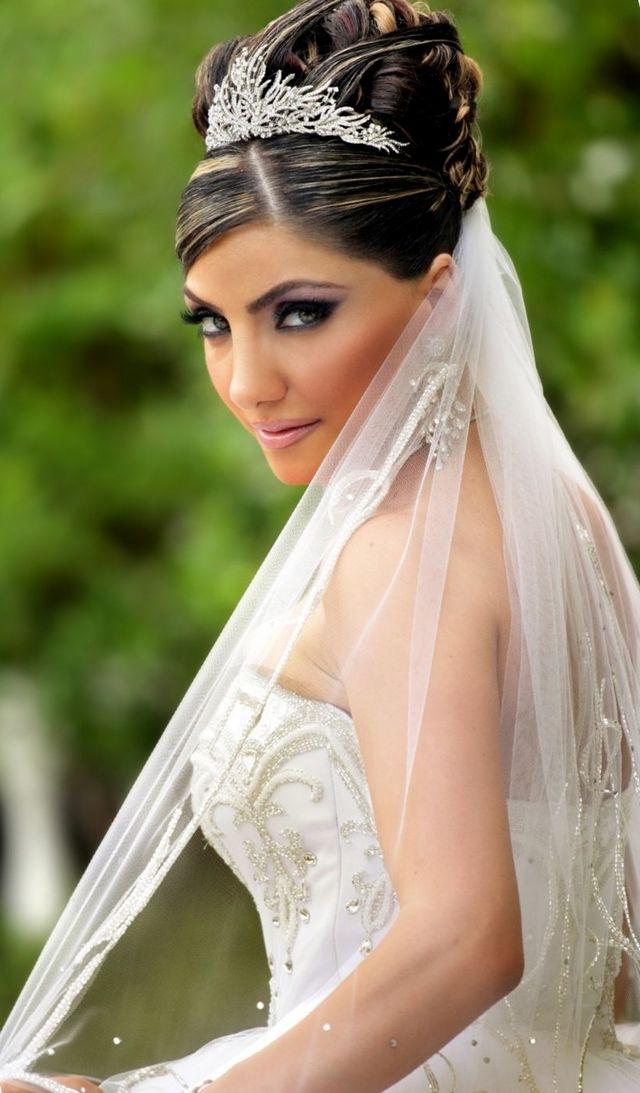 Wedding Hair With Veil And Tiara | Midway Media With Wedding Hairstyles For Short Hair With Veil And Tiara (View 6 of 15)