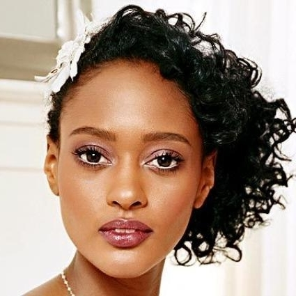 Wedding Hairstyle For Black Woman Perfect Styles For Short, Medium Inside Wedding Hairstyles For Shoulder Length Black Hair (View 14 of 15)