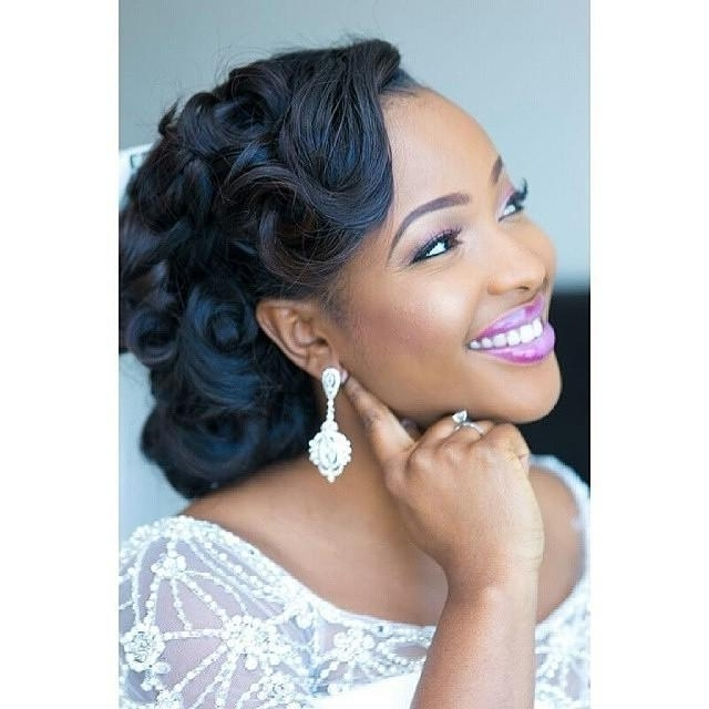 Wedding Hairstyle For Black Woman Perfect Styles For Short, Medium With Regard To African American Wedding Hairstyles For Medium Length Hair (View 13 of 15)