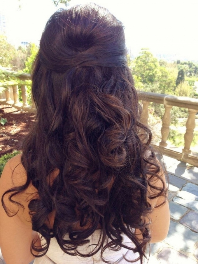 Wedding Hairstyle For Long Curly Hair Half Up Half Down Hairstyles Throughout Half Up Wedding Hairstyles Long Curly Hair (View 9 of 15)