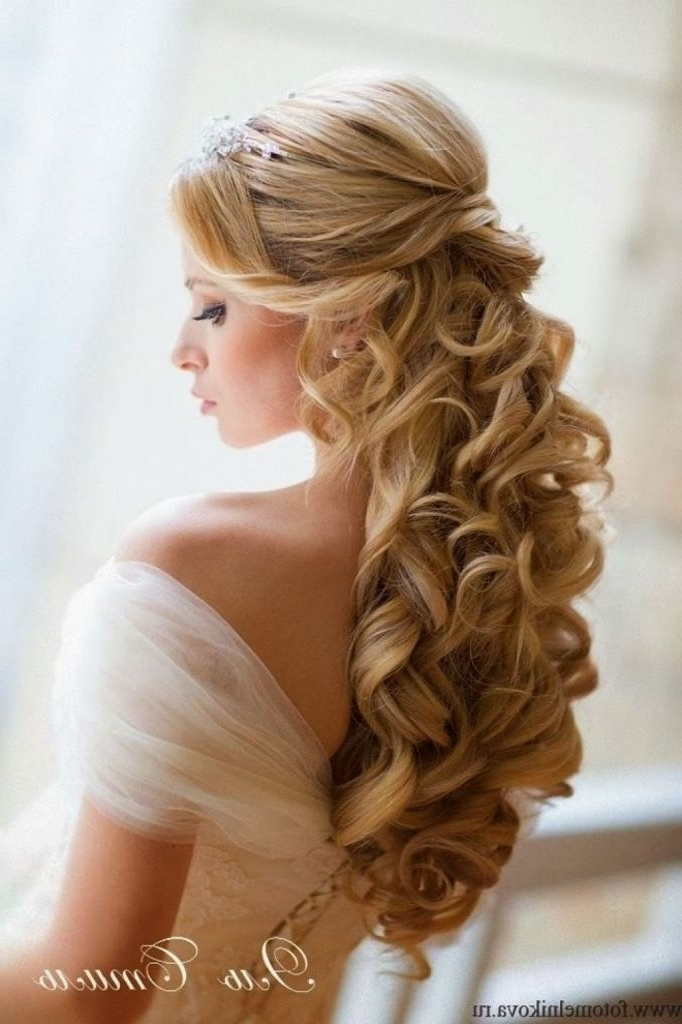 Wedding Hairstyle For Long Curly Hair Half Up Half Down Half Up Half Inside Hair Half Up Half Down Wedding Hairstyles Long Curly (View 12 of 15)