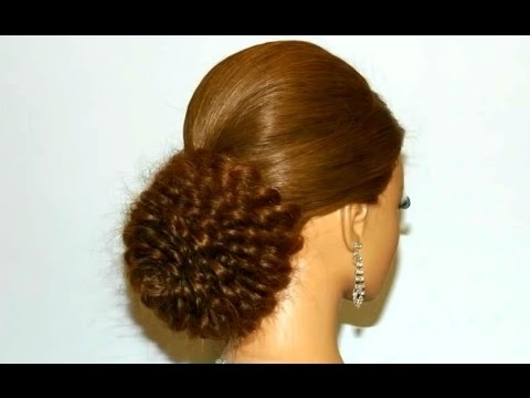 Wedding Hairstyle For Long Hair. Bridal Updo. Rose Bun (View 5 of 15)