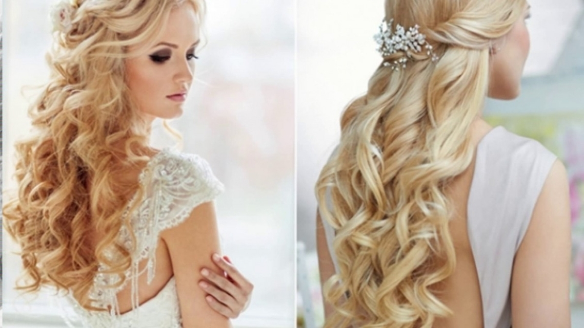 Wedding Hairstyle For Long Hair Down – Youtube | Best Hairstyles And Within Wedding Hairstyles With Long Hair Down (View 4 of 15)
