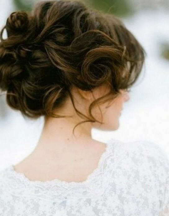 Wedding Hairstyle For Medium Hair For Greatest Wedding Hairstyles In Medium Length Updo Wedding Hairstyles (View 2 of 15)