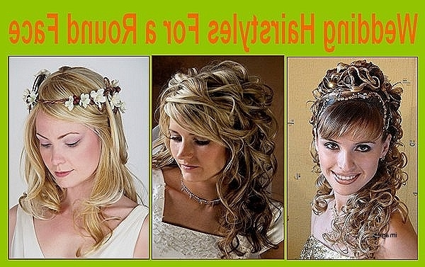 Wedding Hairstyle For Round Shaped Face Wedding Hairstyle For Round With Wedding Hairstyles For Round Shaped Faces (View 11 of 15)