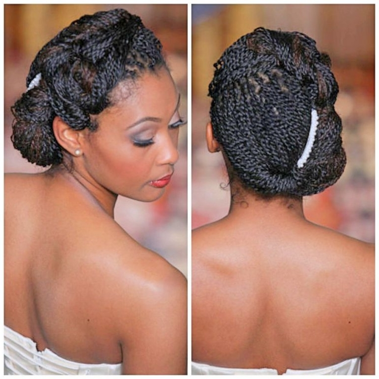 Wedding Hairstyle For Short Natural Hair | Fade Haircut For Most In Wedding Hairstyles For Short Natural Black Hair (View 3 of 15)