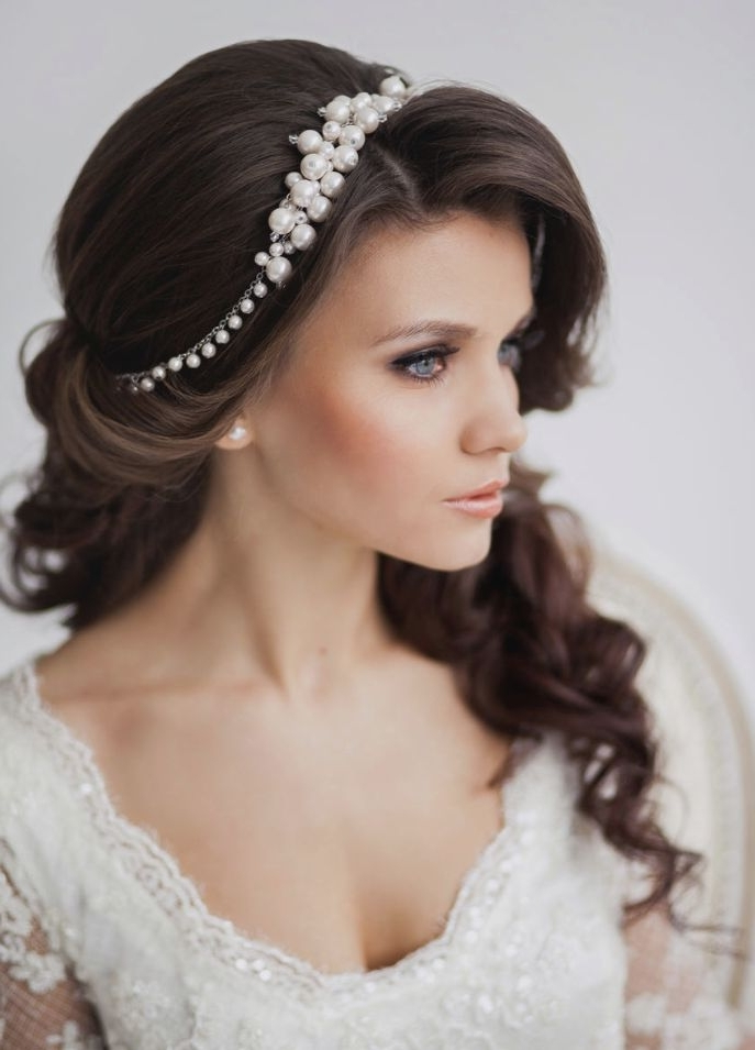 Wedding Hairstyle Ideas For Long Hair | Tulle & Chantilly Wedding Blog Throughout Wedding Hairstyles For Long Hair With Crown (View 9 of 15)