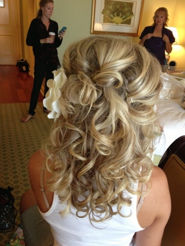 Wedding Hairstyle Ideas For Medium Length Hair Half Up Wedding Intended For Wedding Half Up Hairstyles For Medium Length Hair (View 13 of 15)