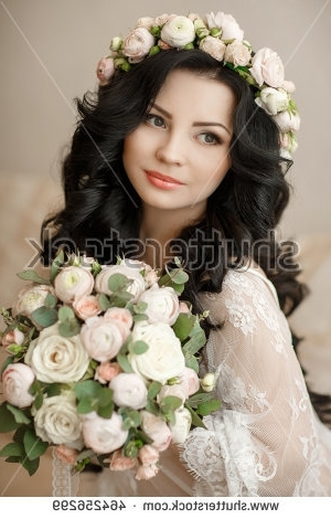 Wedding Hairstyle Makeup Beautiful Young Bride Stock Photo (Edit Now In Wedding Hairstyles For Young Brides (View 10 of 15)
