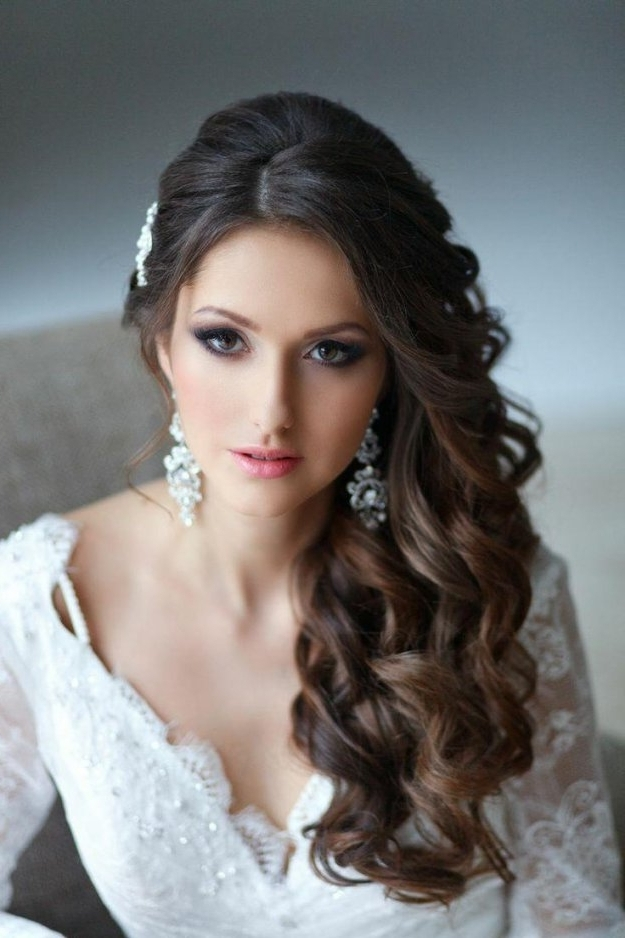 Wedding Hairstyle Side Swept Hairstyles For Long Hair Hairstyles New With Regard To Wedding Hairstyles For Long Hair With Side Swept (View 14 of 15)