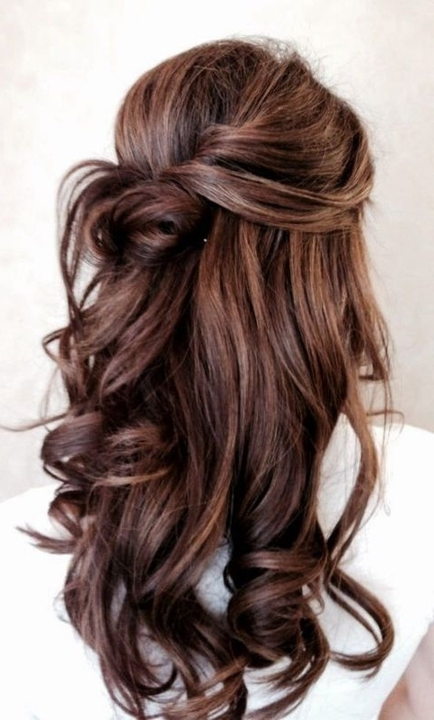 Wedding Hairstyle: The Half Up Do + Tutorial | Pinterest | Loose Throughout Half Up Wedding Hairstyles For Long Hair (View 2 of 15)