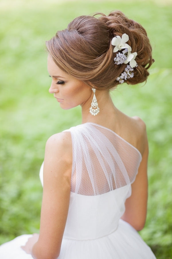 Wedding Hairstyle Updo With Flowers | Deer Pearl Flowers With Regard To Wedding Hairstyles For Bride (View 7 of 15)