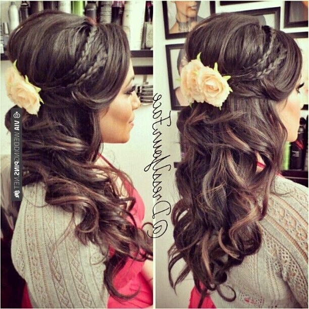 Wedding Hairstyle With Braids 2017 Inside Wedding Hairstyles Down With Braids (View 8 of 15)