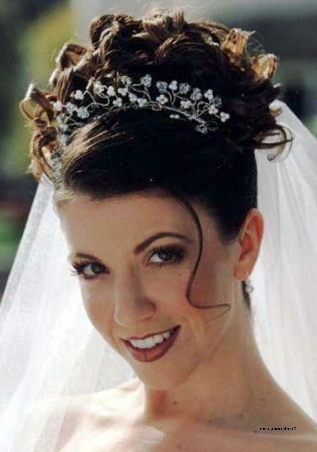 Wedding Hairstyle With Veil And Tiara Elegant Wedding Hairstyles For Regarding Wedding Updos For Long Hair With Tiara (View 11 of 15)