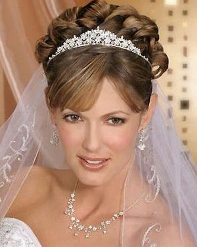 Wedding Hairstyle With Veil Tiara 3 Regarding Wedding Hairstyles For Long Hair With Veils And Tiaras (View 10 of 15)