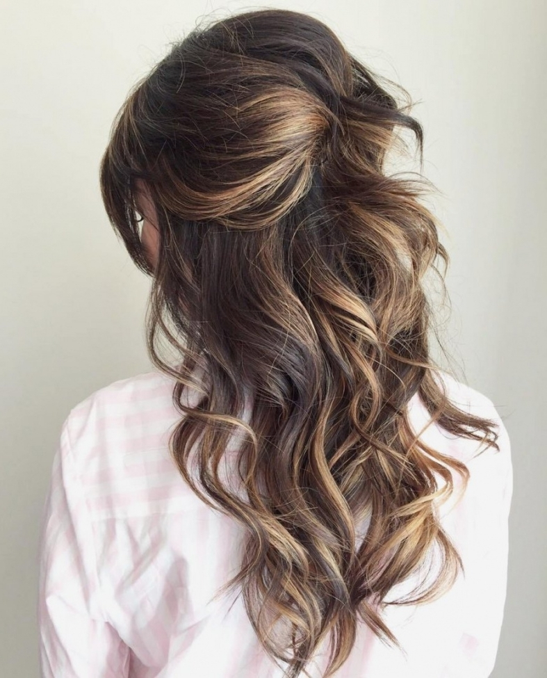 Wedding Hairstyles : Awesome Wedding Hairstyles Long Hair Half Up Intended For Wedding Hairstyles For Long Layered Hair (View 11 of 15)
