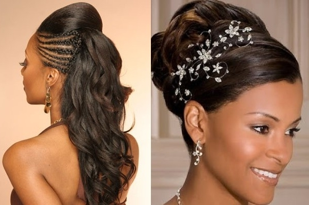 Wedding Hairstyles Braids For Black Women | Medium Hair Styles Ideas In Wedding Hairstyles For Black Girl (View 9 of 15)