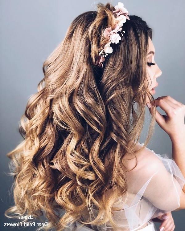 Wedding Hairstyles | Deer Pearl Flowers Throughout Wedding Hairstyles For Long Layered Hair (View 7 of 15)