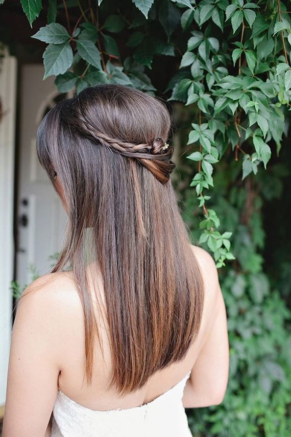 Wedding Hairstyles Down Straight Luxury Wedding Hairstyles 13 Dreamy Throughout Down Straight Wedding Hairstyles (View 12 of 15)