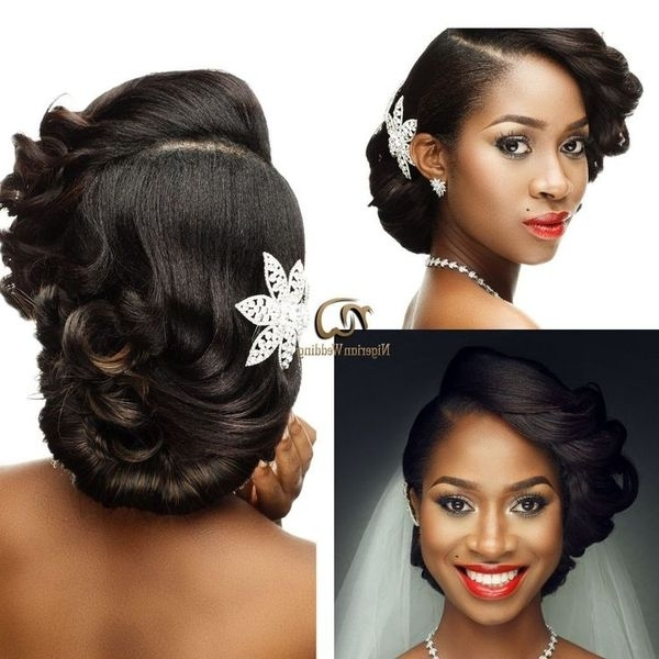 Wedding Hairstyles For Black Women, African American Wedding Haircuts For African Wedding Hairstyles (View 15 of 15)